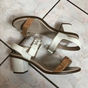 Rockport Cork & leather chunky sandals 😇